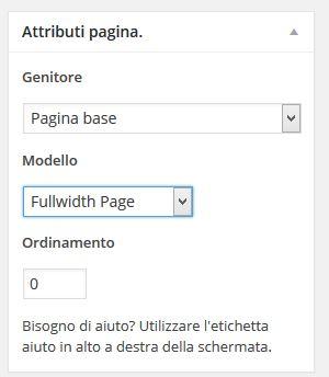 rimuovere barra laterale wordpress