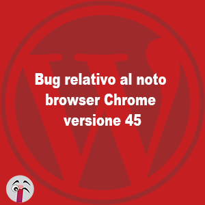 bug chrome e wordpress