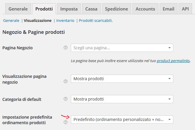 f6ef5bbe3a Personalizzare l'ordine dei prodotti in WooCommerce • LAbDesign80.it