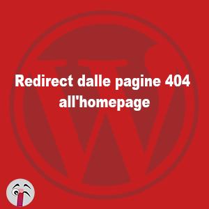 redirect dalle pagine 404 alla home