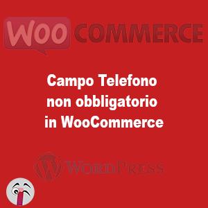 Campo Telefono non obbligatorio in WooCommerce