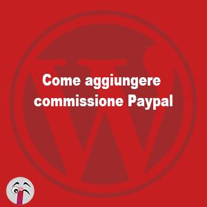 Come aggiungere commissione paypal