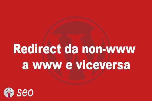 Redirect da non-www a www e viceversa